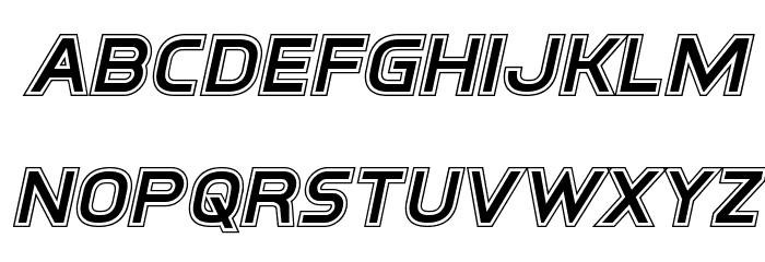 Inter-Bureau Academy Italic फ़ॉन्ट लोअरकेस
