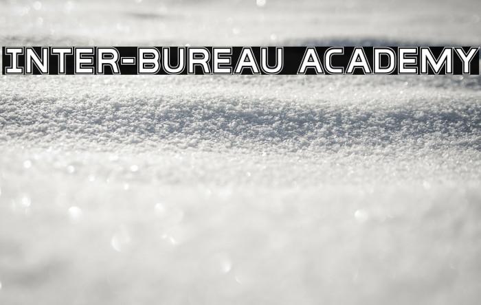 Inter-Bureau Academy Fonte examples