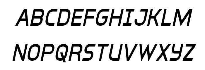 Inter-Bureau Condensed Italic 字体 大写
