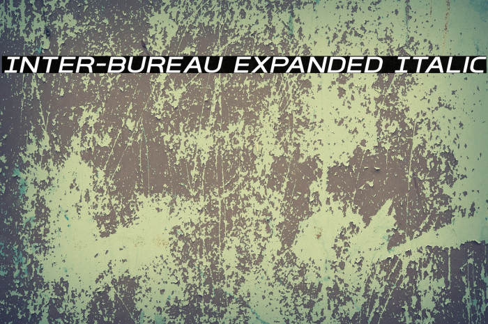 Inter-Bureau Expanded Italic फ़ॉन्ट examples