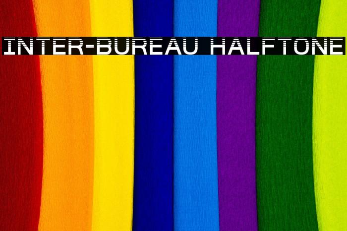 Inter-Bureau Halftone Caratteri examples