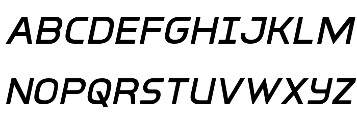 Inter-Bureau Italic फ़ॉन्ट अपरकेस