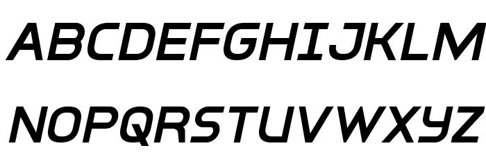 Inter-Bureau Semi-Bold Italic फ़ॉन्ट अपरकेस