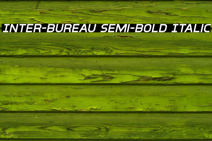 Inter-Bureau Semi-Bold Italic फ़ॉन्ट examples