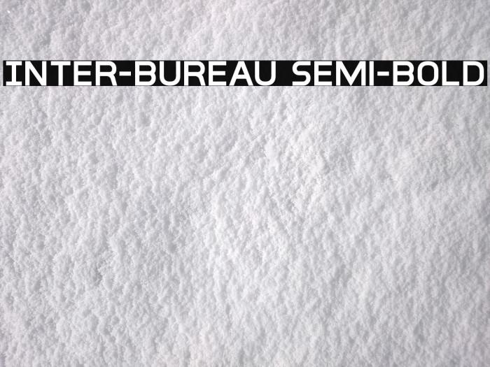 Inter-Bureau Semi-Bold フォント examples