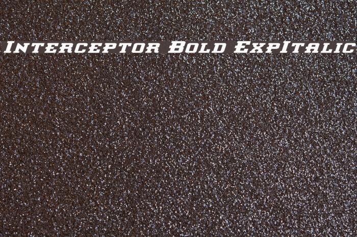 Interceptor Bold ExpItalic Fonte examples