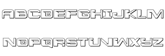 Interdiction 3D Regular Font UPPERCASE