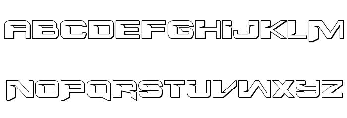 Interdiction 3D Regular Font LOWERCASE