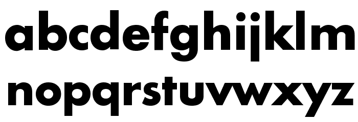 Intrepid Bold Font LOWERCASE