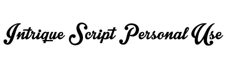 Intrique Script Personal Use  Free Fonts Download