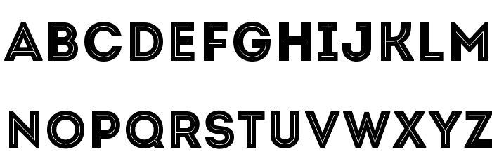 Intro-Inline Font LOWERCASE