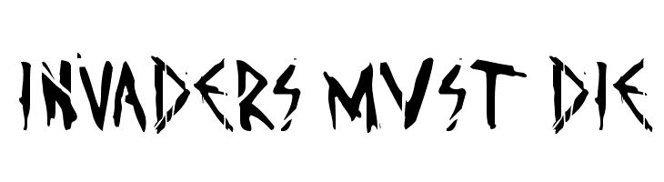 Invaders must die  Fuentes Gratis Descargar