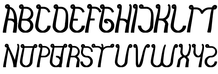 india hair style Font LOWERCASE