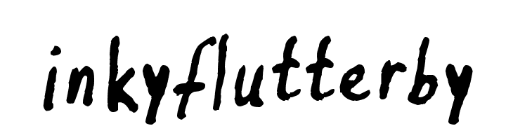 inkyflutterby  Free Fonts Download