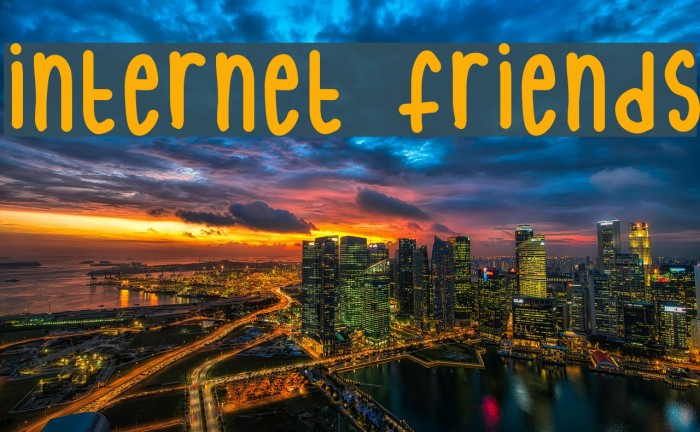 internet friends Font - FFonts.net
