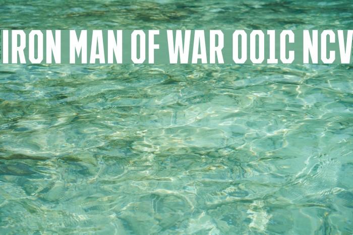 IRON MAN OF WAR 001C NCV Font examples