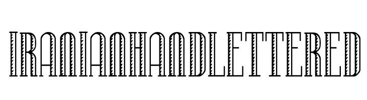 IranianHandLettered  Скачать бесплатные шрифты