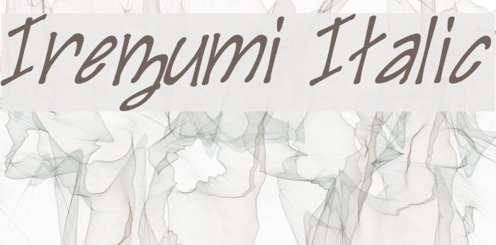 Irezumi Italic Fonte examples