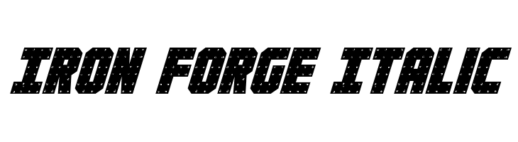 Iron Forge Italic  Free Fonts Download