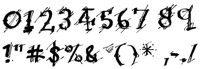 Irregular Ledger Regular フォント その他の文字