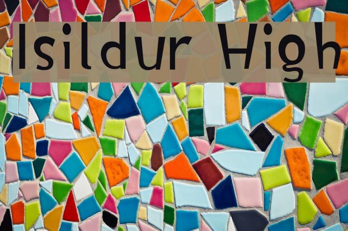 Isildur High फ़ॉन्ट examples