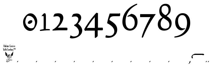 Italian Cursive, 16th Century Font OTHER CHARS