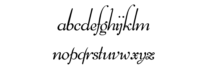 Ithuriel Demo Font LOWERCASE
