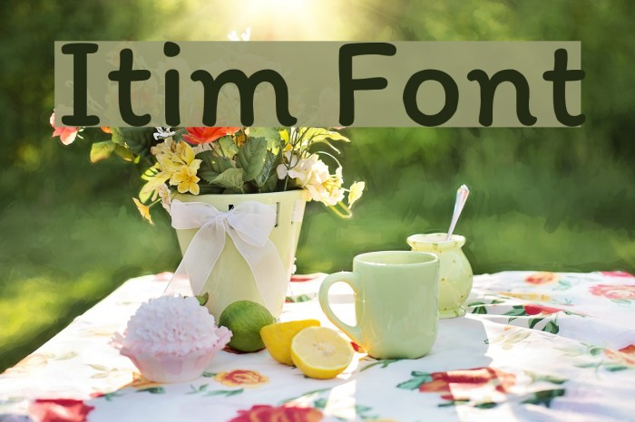 Itim Font examples
