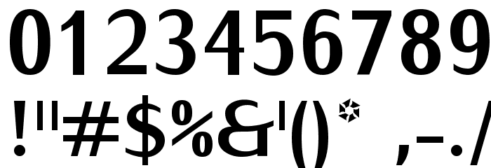 IwonaCondHeavy-Regular Font OTHER CHARS