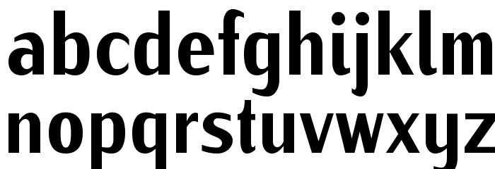 IwonaCondHeavy-Regular Font LOWERCASE