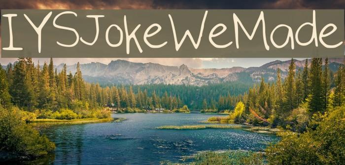 IYSJokeWeMade फ़ॉन्ट examples