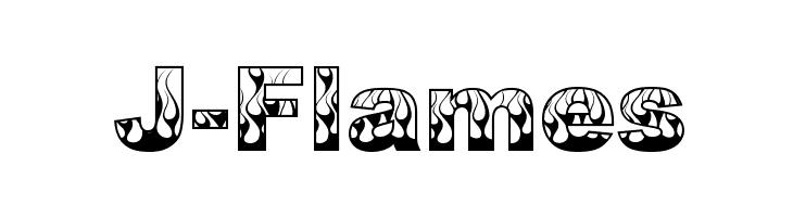 J-Flames  les polices de caractères gratuit télécharger