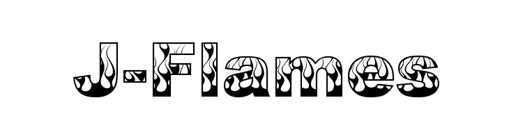 J-Flames  baixar fontes gratis