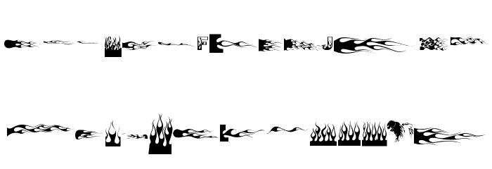 J-Flames Font Litere mari