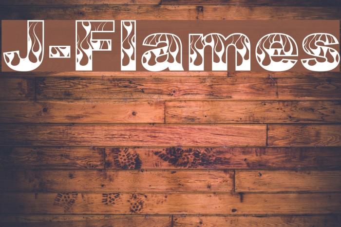 J-Flames Font examples
