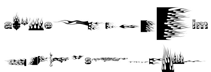 J-Flames Font Litere mici