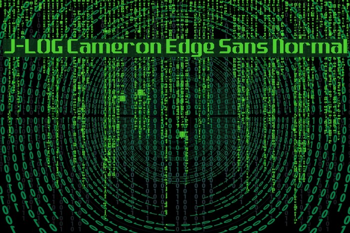 J-LOG Cameron Edge Sans Normal Font examples