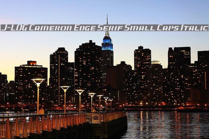 J-LOG Cameron Edge Serif Small Caps Italic Font examples