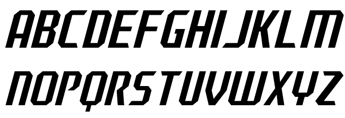 J-LOG Razor Edge Sans Normal Italic Font UPPERCASE