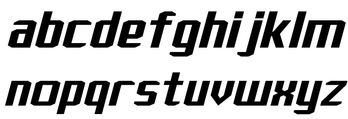 J-LOG Rebellion Sans Normal Italic Font LOWERCASE