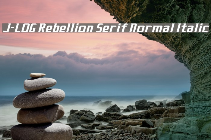 J-LOG Rebellion Serif Normal Italic Font examples