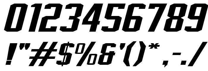 J-LOG Rebellion Slab Sans Normal Italic Font OTHER CHARS