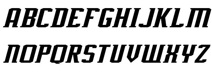 J-LOG Rebellion Slab Serif Normal Italic Font UPPERCASE