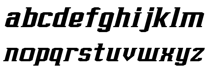 J-LOG Rebellion Slab Serif Normal Italic Font LOWERCASE