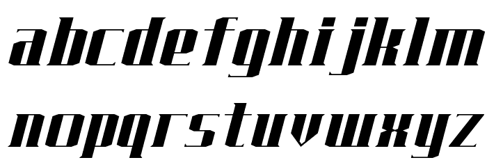 J-LOG Starkwood Serif Normal Italic Font LOWERCASE