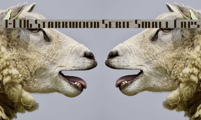 J-LOG Starkwood Serif Small Caps Font examples