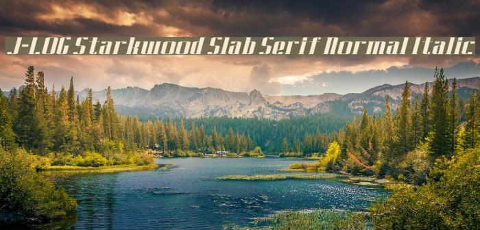 J-LOG Starkwood Slab Serif Normal Italic Font examples