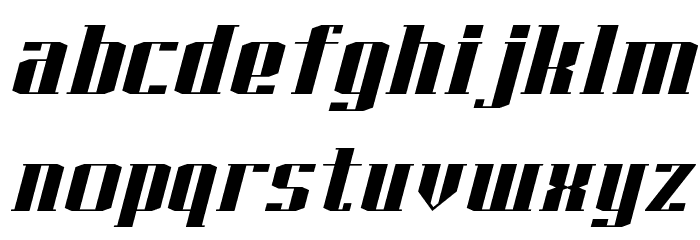 J-LOG Starkwood Slab Serif Normal Italic Font LOWERCASE