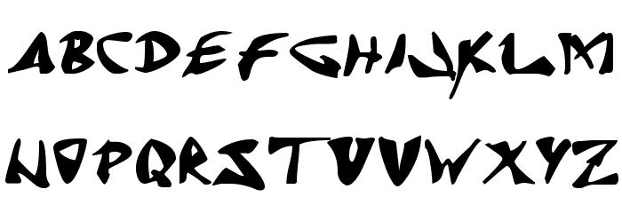 J Random C Font Litere mari