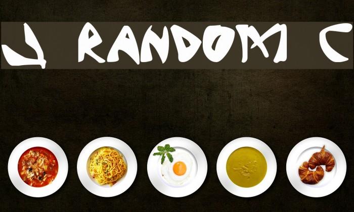 J Random C Font examples